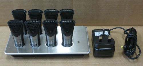 8 x Revolabs Solo Executive Wireless Microphones & Charger CH 01-EXECHG-STD-11